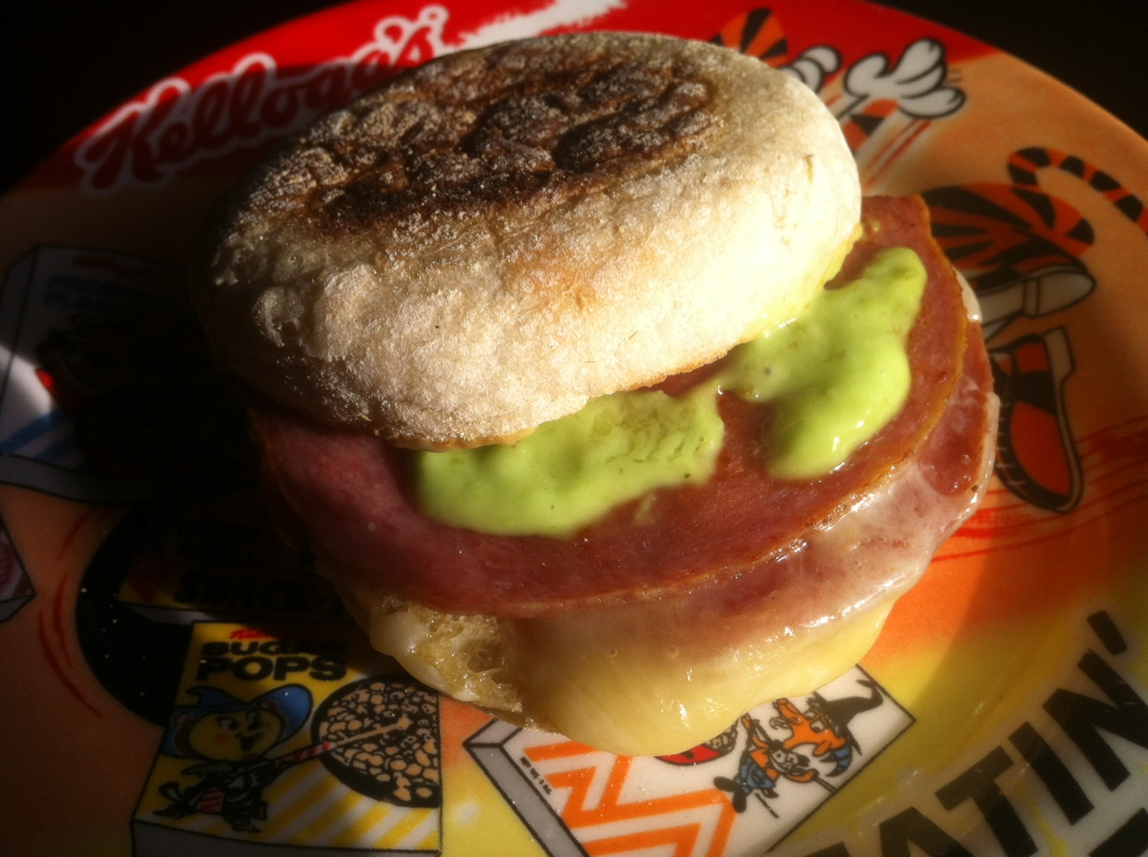 Pork Roll with Wasabi Sauce