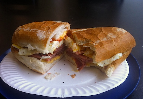 pork roll egg and cheese Bing's Deli