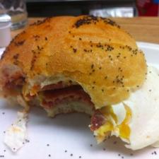 pork roll egg and cheese eaten